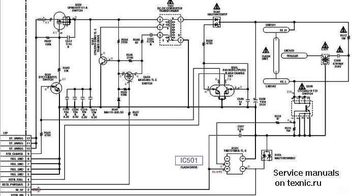 Схемы и сервисные инструкции на фотоаппараты, устройство
