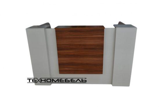 Ресепшн «columns HIGHT» длина 1800 мм белый-слива с розеткой на 220 V и зарядными устройствами USB