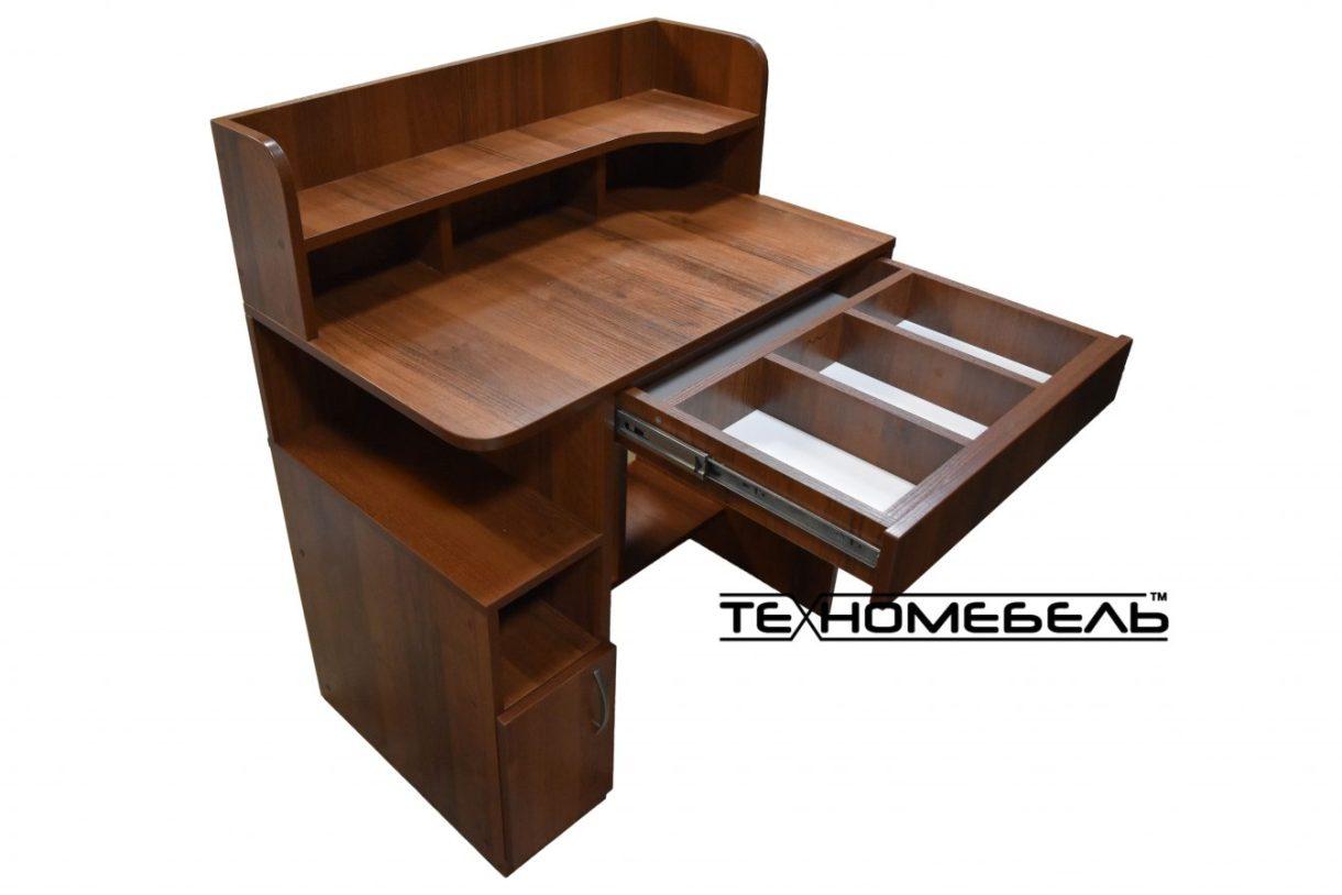 Стол компьютерный с надстройкойцвет орех