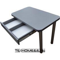 Кухонный стол с выдвижным ящиком серого цвета ТЕХНОмебель