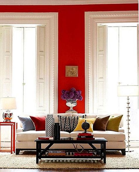 Κόκκινα χρωμάτα βαφής τοίχου
