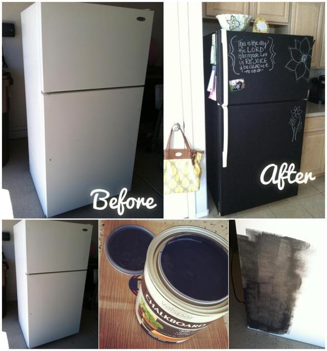 Βαφή Μαυροπίνακα στο ψυγείο σας5