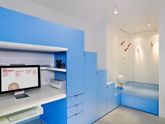 Μπλε χρώμα στην εσωτερική διακόσμηση13