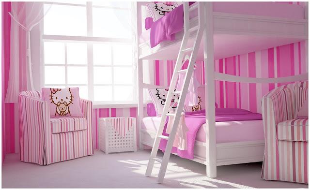Ροζ Ιδέες για παιδικό Υπνοδωμάτιο8