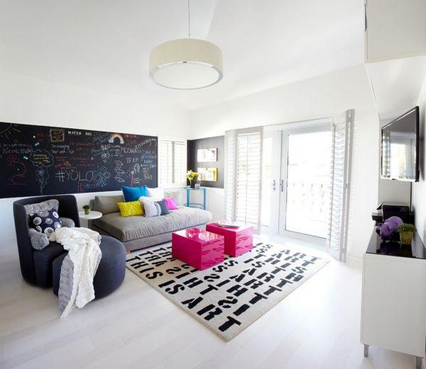 χρώμα μαυροπίνακα για διακόσμηση στο σπίτι58