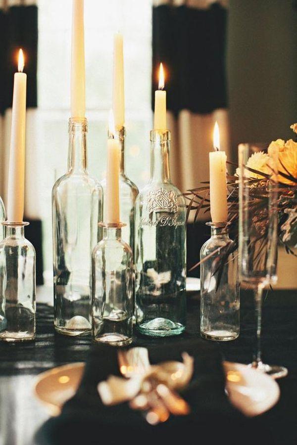 Diy Ιδέες από Μπουκάλια κρασιού13