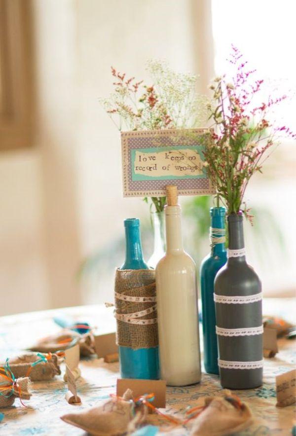 Diy Ιδέες από Μπουκάλια κρασιού9