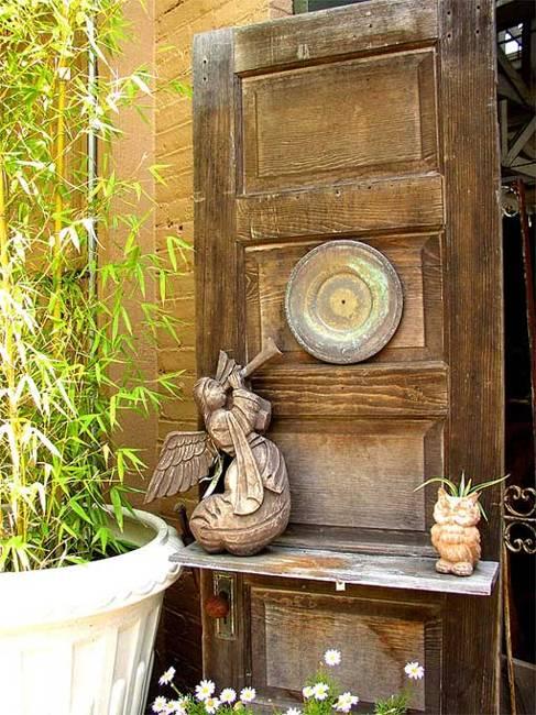 Ιδέες με ανακύκλωση παλιών ξύλινων πορτών και παραθύρων8