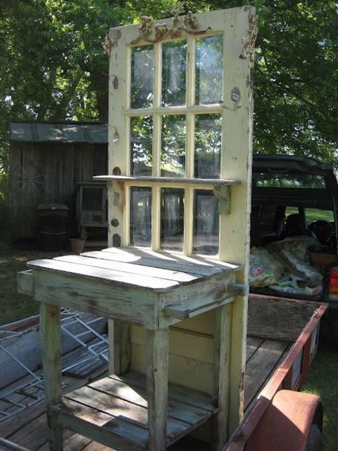 Ιδέες με ανακύκλωση παλιών ξύλινων πορτών και παραθύρων9