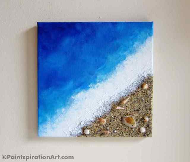 DIY έργο τέχνης Πίνακας ζωγραφικής Παραλία1