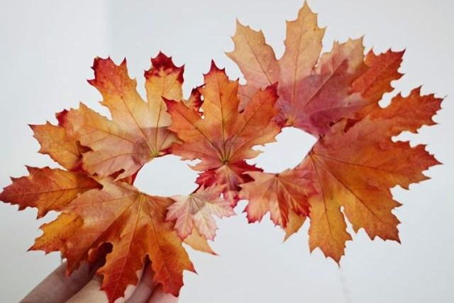 Φθινοπωρινές DIY διακοσμητικές ιδέες με φύλλα10