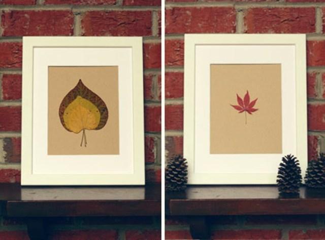 Φθινοπωρινές DIY διακοσμητικές ιδέες με φύλλα11