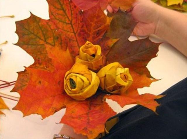 Φθινοπωρινές DIY διακοσμητικές ιδέες με φύλλα8
