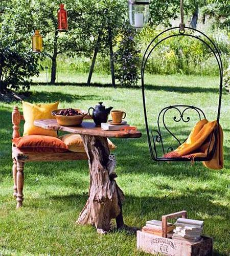 ιδέες με κορμούς δέντρου στον κήπο10
