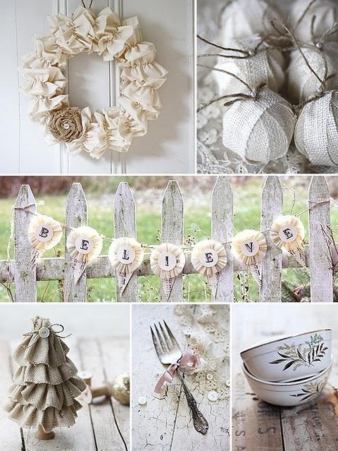 Ιδέες για Vintage λευκά  Χριστούγεννα34