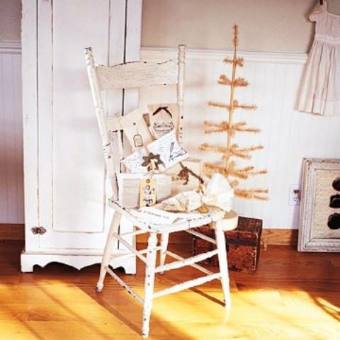 Ιδέες για Vintage λευκά  Χριστούγεννα8