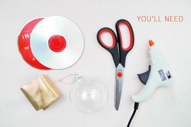 Χριστουγεννιάτικα στολίδια από σπασμένα ή παλιά CDs4
