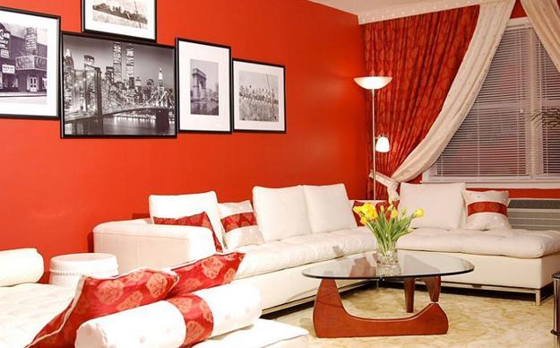 ιδέες και σχέδια για Καθιστικού με κόκκινο χρώμα21