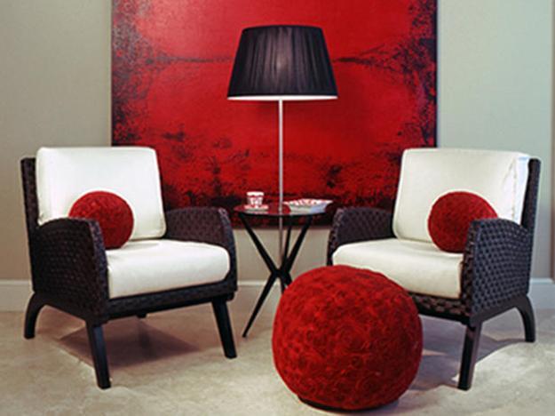 ιδέες και σχέδια για Καθιστικού με κόκκινο χρώμα3