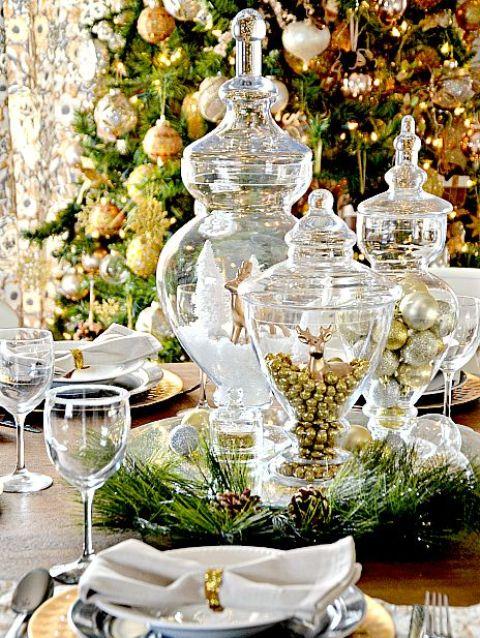 χρυσάφι Και Λευκές Χριστουγεννιάτικες Ιδέες12