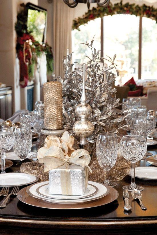 χρυσάφι Και Λευκές Χριστουγεννιάτικες Ιδέες24