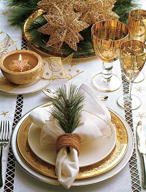 χρυσάφι Και Λευκές Χριστουγεννιάτικες Ιδέες25