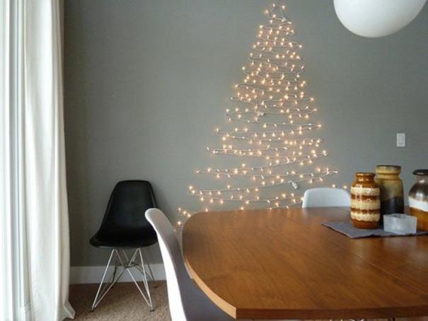 ιδέες με Χριστουγεννιάτικα Δέντρα στον τοίχο1