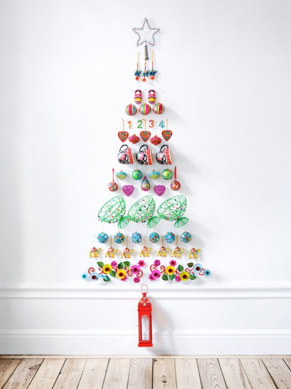 ιδέες με Χριστουγεννιάτικα Δέντρα στον τοίχο15
