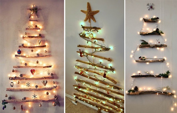 ιδέες με Χριστουγεννιάτικα Δέντρα στον τοίχο5