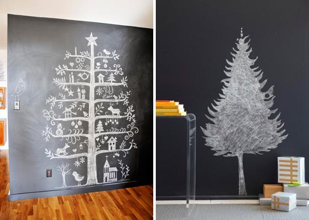ιδέες με Χριστουγεννιάτικα Δέντρα στον τοίχο9