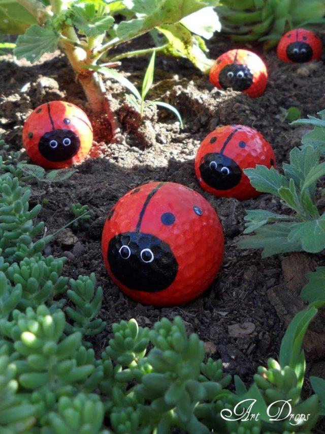 πασχαλίτσες για τον κήπο σας από μπαλάκια του γκόλφ1