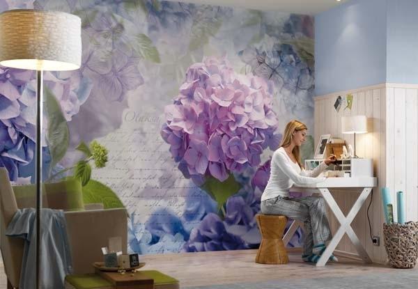 Ιδέες Διακόσμησης για την άνοιξη με λουλούδια στους τοίχους7