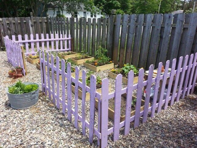 Ιδέες με Φράχτες από ξύλινες παλέτες12