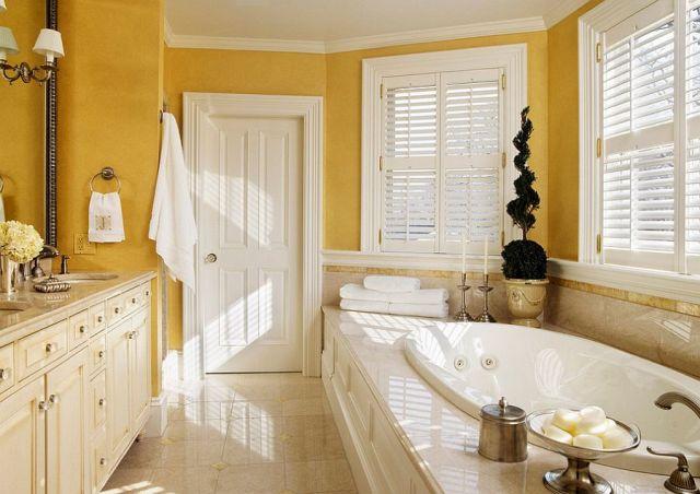 Μπάνια με τη ζεστή δελεαστική ομορφιά του Κίτρινου11