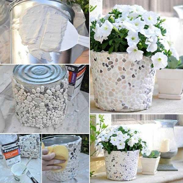 DIY Γλάστρες Κήπου15