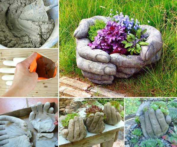 DIY Γλάστρες Κήπου5