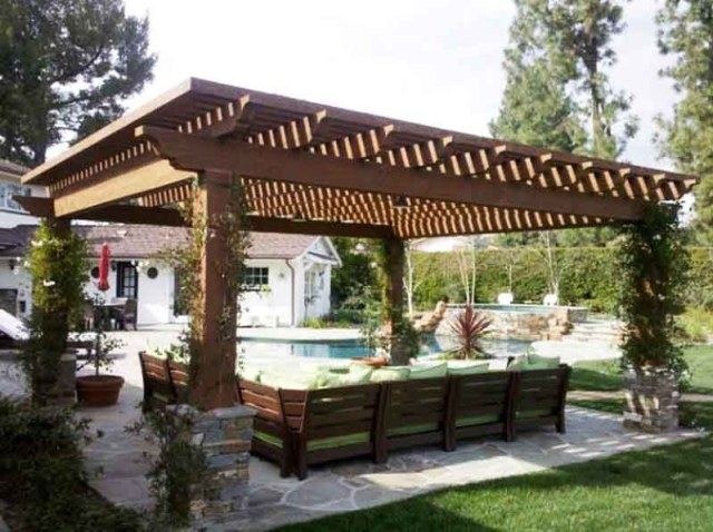 Ιδέες σχεδιασμού ξύλινης πέργκολας23
