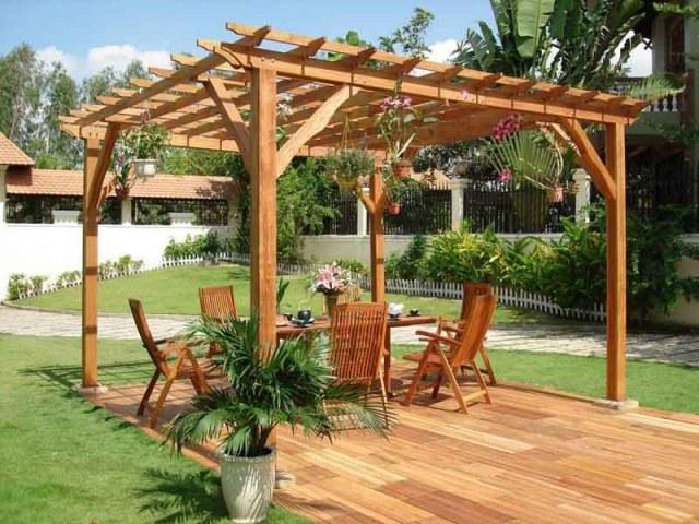 Ιδέες σχεδιασμού ξύλινης πέργκολας5