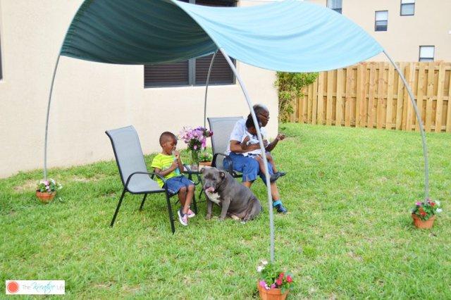 Απίθανο DIY σκίαστρο για την αυλή και τον κήπο σας9