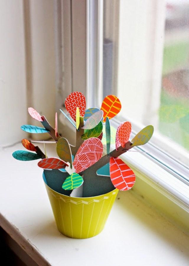 DIY διακόσμηση με ψεύτικα φυτά5