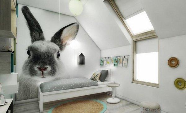 Παιδικά υπνοδωμάτια με ενδιαφέρουσες ιδέες διακόσμησης τοίχου14
