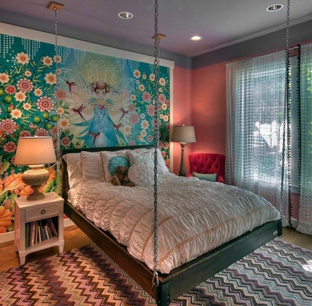 Παιδικά υπνοδωμάτια με ενδιαφέρουσες ιδέες διακόσμησης τοίχου3
