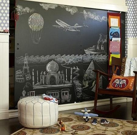 Τοίχοι μαυροπίνακας σαν τέχνη5