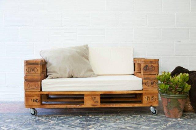 Ιδέες με ξύλινες παλέτες10