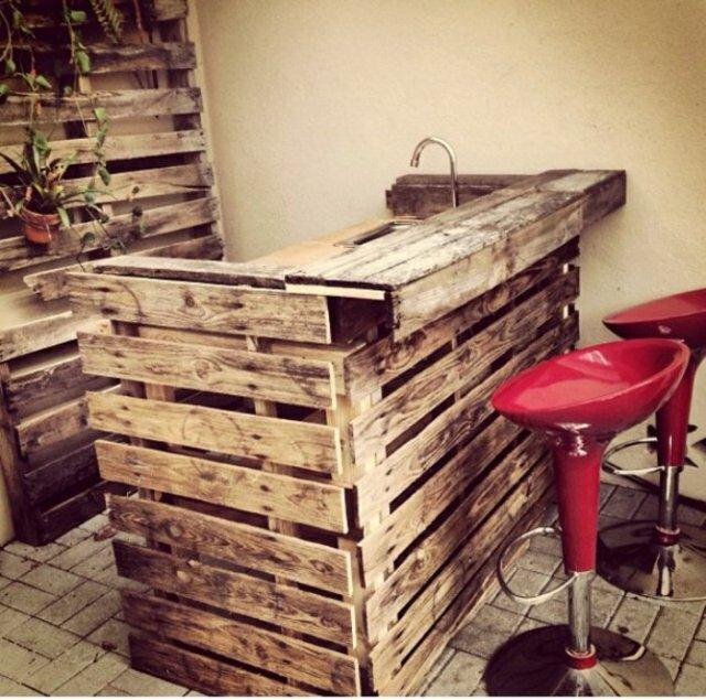 Ιδέες με ξύλινες παλέτες110