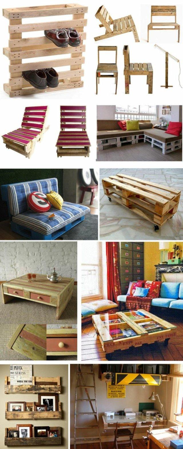 Ιδέες με ξύλινες παλέτες17