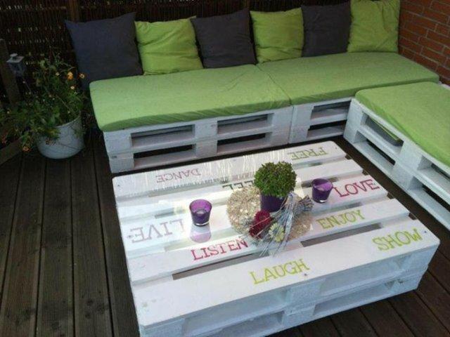 Ιδέες με ξύλινες παλέτες23