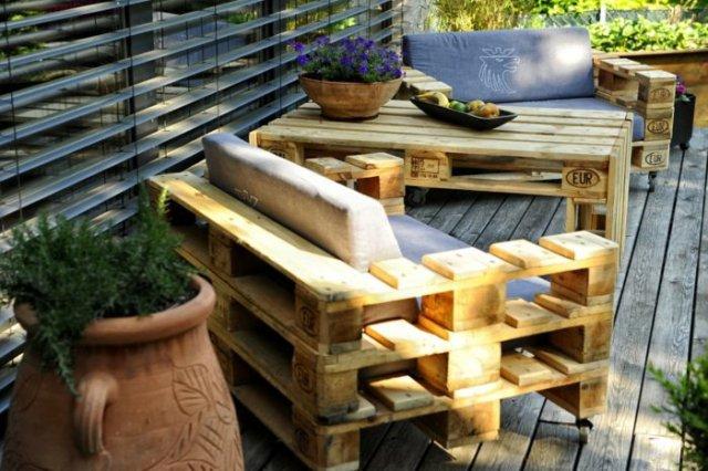 Ιδέες με ξύλινες παλέτες33