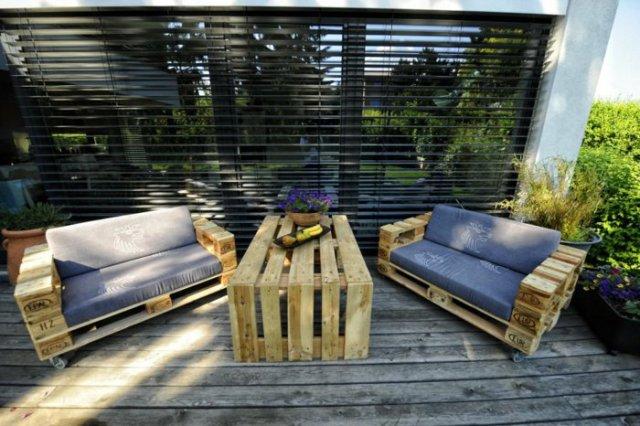Ιδέες με ξύλινες παλέτες34