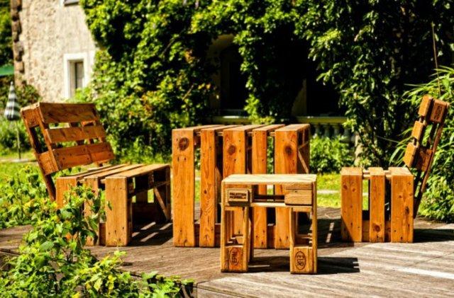 Ιδέες με ξύλινες παλέτες42